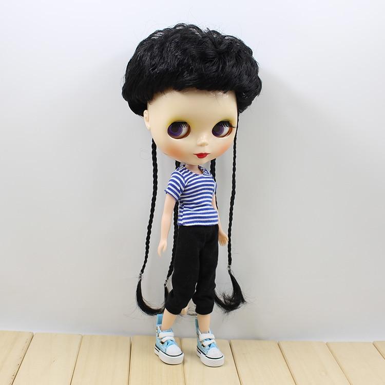 ФОТО Neo Blyth Nude doll three colors short hair with braids cute fashion BJD Blyth dolls for girls gifts