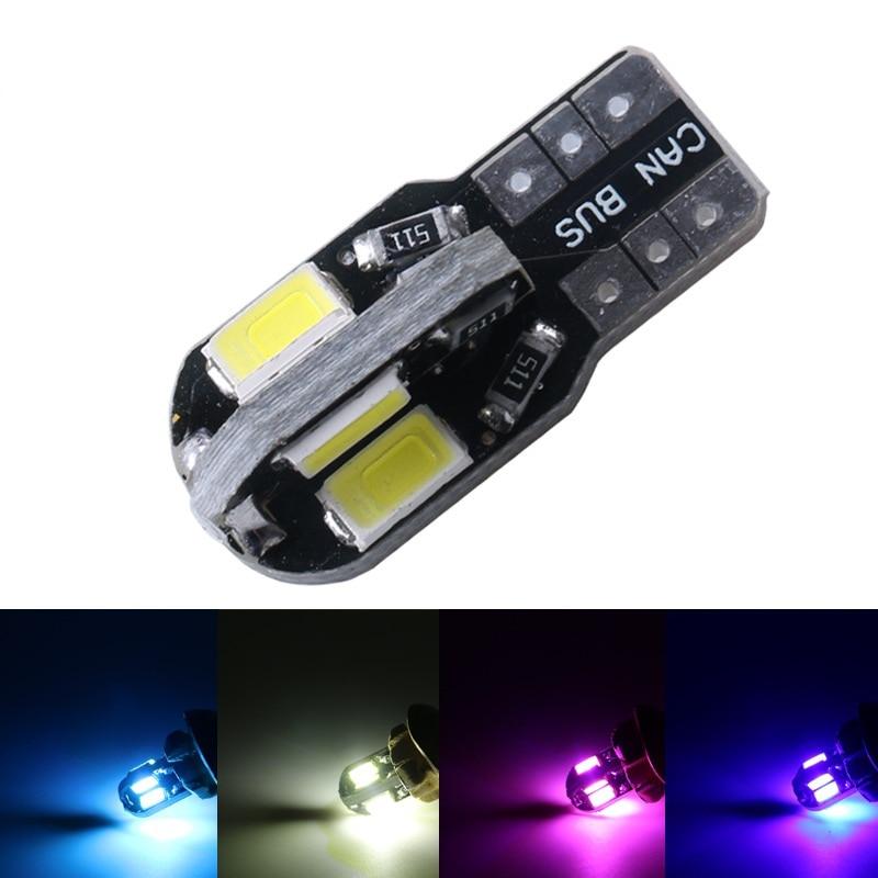 10 X T10 W5W T10 led canbus 194 168 5730 t10 8SMD Canbus NO ERRORE 12 V Car Auto Indicatore Lampadine Luce di Parcheggio Lampada auto-styling