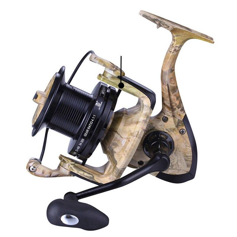 YUYU Sea Fishing Spinning Reel camouflage 8000 9000 10000 Metal Spool Saltwater Catfish Surfcasting Fishing Reel Distant Wheel