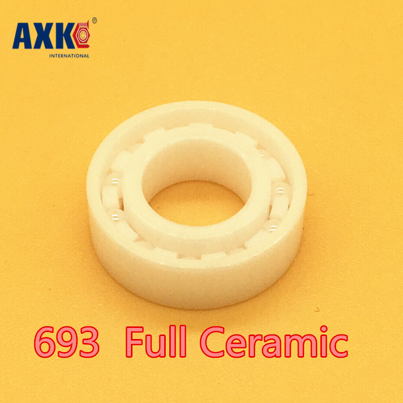 2018 Hot Sale New Rolamentos Axk 1 Pc 693 Full Ceramic Zro2 3x8x3 3mm/8mm/3mm Ball Bearing 693 full ceramic si3n4 3x8x3 mm 1 pc 3mm 8mm 3mm si3n4 ceramic ball bearing