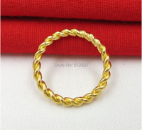 999 Solid 24K Yellow Gold Ring Dough Twist Ring 2 68g Lady S Weijie Us Size