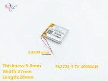 2pcs 582728 3 7v 400mah Rechargeable Li polymer Li ion Battery For Q50 G700s K92 G36