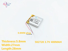2pcs 582728 3.7v 400mah Rechargeable Li-polymer Li-ion Battery For Q50 G700s K92 G36 Y3 Children's Smart Watches Mp3 582828