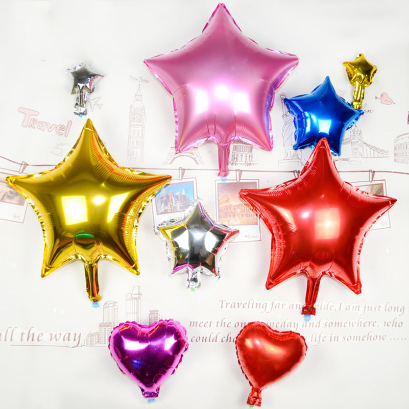 10Pcs/lot 18Inch Inflatable Star Shape Foil Balloon Wedding Birthday Balloons Party Decorations Supplies Helium Balloon Classic