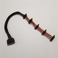 10pcs/lot Power Extension SATA Cable 15Pin 1 to 5 Splitter Hard Drive Assemble Cable Wire 40cm