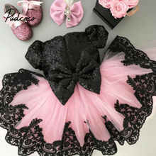 Baby Girls Kids Wedding Dress Flower Girl Princess Party Pageant Formal Back Bow Short Sleeve Lace Tulle 6M-6Y