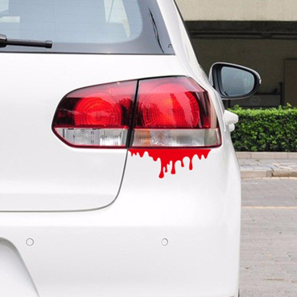 Bumper sticker creator canada - Cool Blood Reflective Car Sticker Special Personality Design Tail Light Window Decals For Mazda Kia Bmw