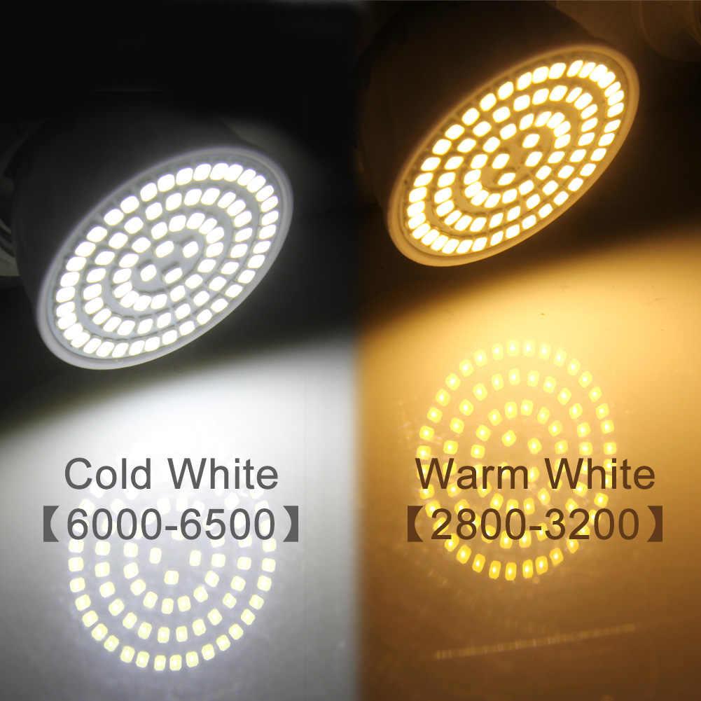 E27 LED Ampoule GU10 lampe à LED 220V SMD 2835 MR16 spot 48 60 80LED s blanc chaud blanc froid lumières pour la décoration de la maison Ampoule