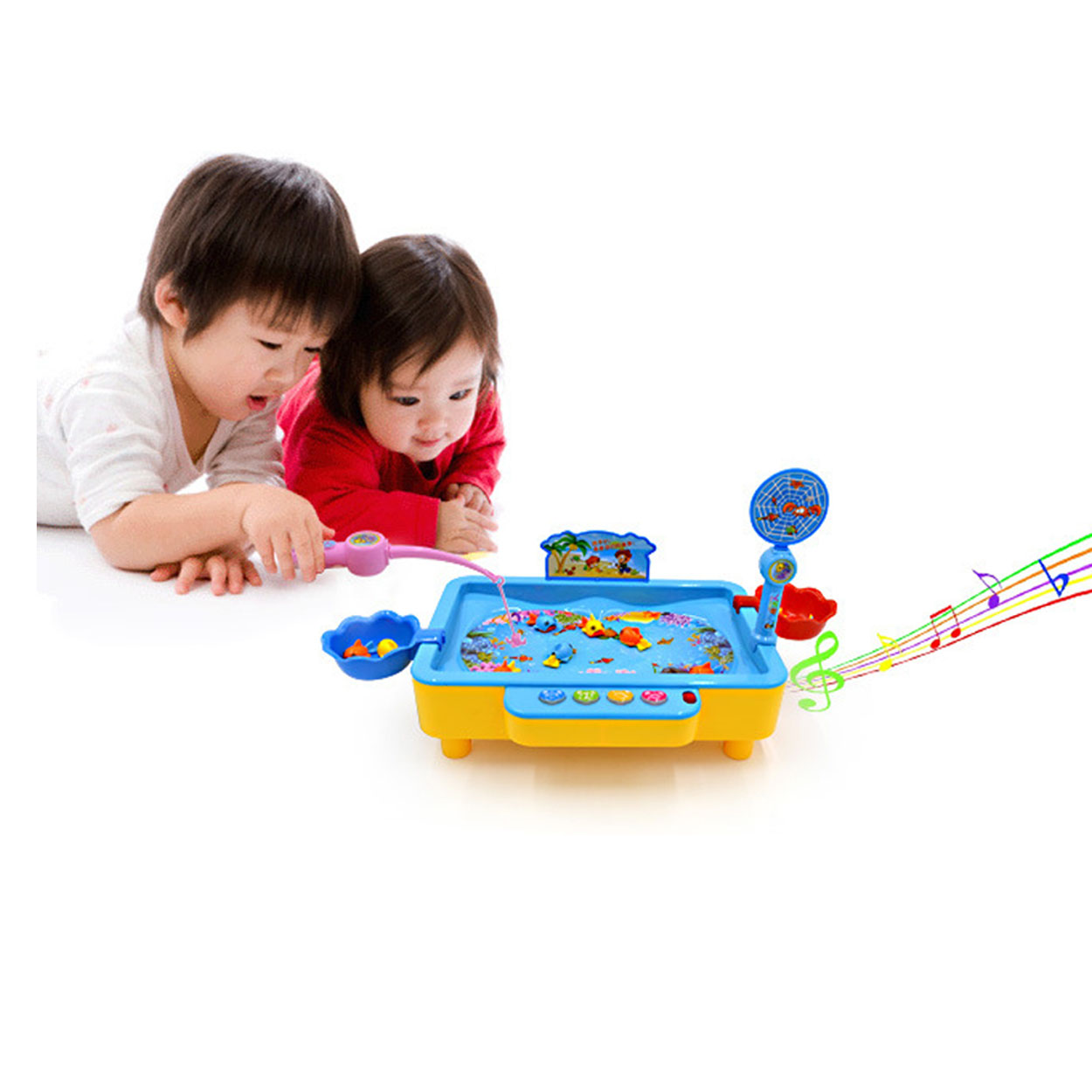 ФОТО Electronic Magnetic Fishing Toy Fish Magnet Toy With Music Muscial Magnetic Fishing Game Electric Plastic Fish Toys 5222