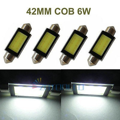 Free Shipping 4Pcs C10W Led Festoon Bulb 42 mm 264 COB PLASMA 6W LED CAN BUS ERROR FREE INTERIOR bulbs For MITSUBISHI I