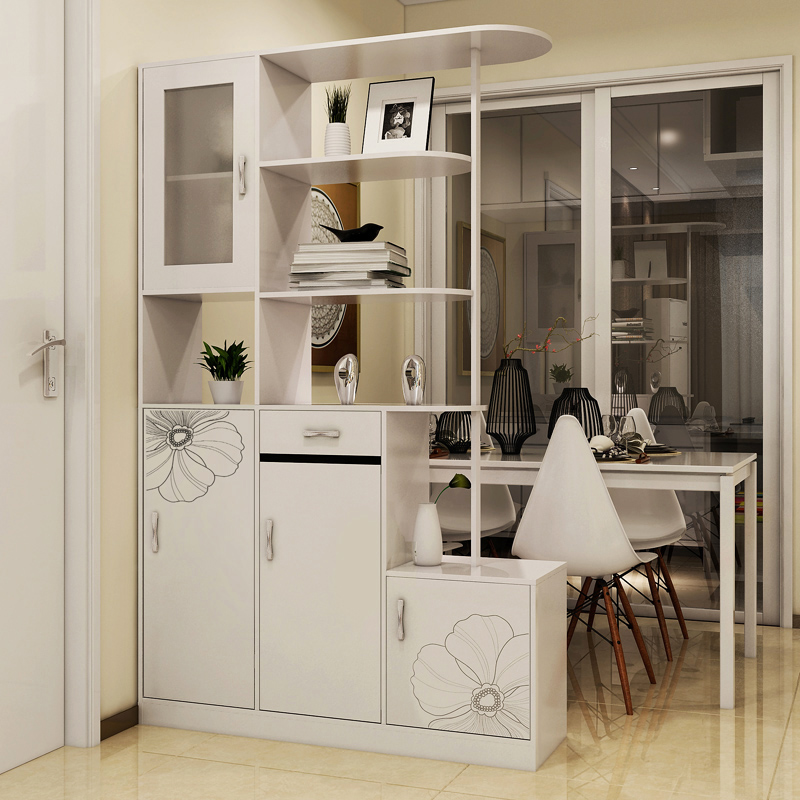 Simple And Stylish Living Room Wine Cabinet Foyer Entrance Modern Shoe Off Paint Two