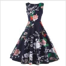 38ae20d99b 2018 Amazon Spring and America Slim Print Dress European Stand Sleeveless Fashion  Women