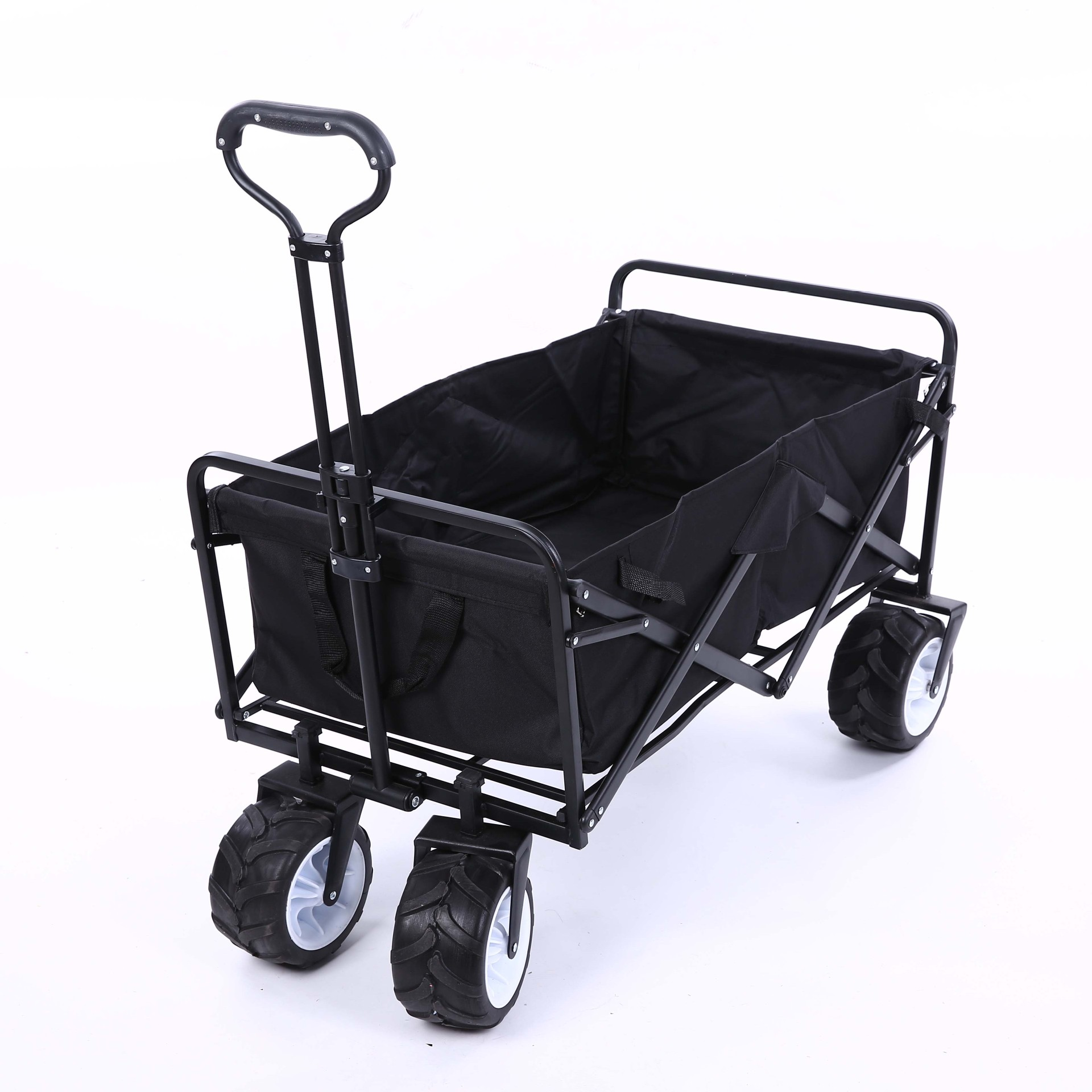 Foldable Portable Stainless Steel 600D Oxford Cloth Four Wheels Pet Stroller Large Space Shopping Cart