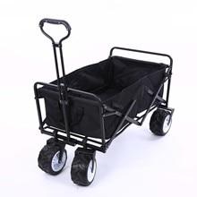 Складной портативный нержавеющая сталь + 600D ткань Оксфорд четыре колёса Pet коляска большое пространство корзина 150 кг бисер