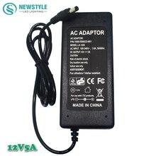 1 Шт. 12 В 5А 60 Вт светодиодный индикатор Питания драйвера Адаптера Вн трансформатора AC100-240V для DC12V адаптер Питания для прокладки водить огни