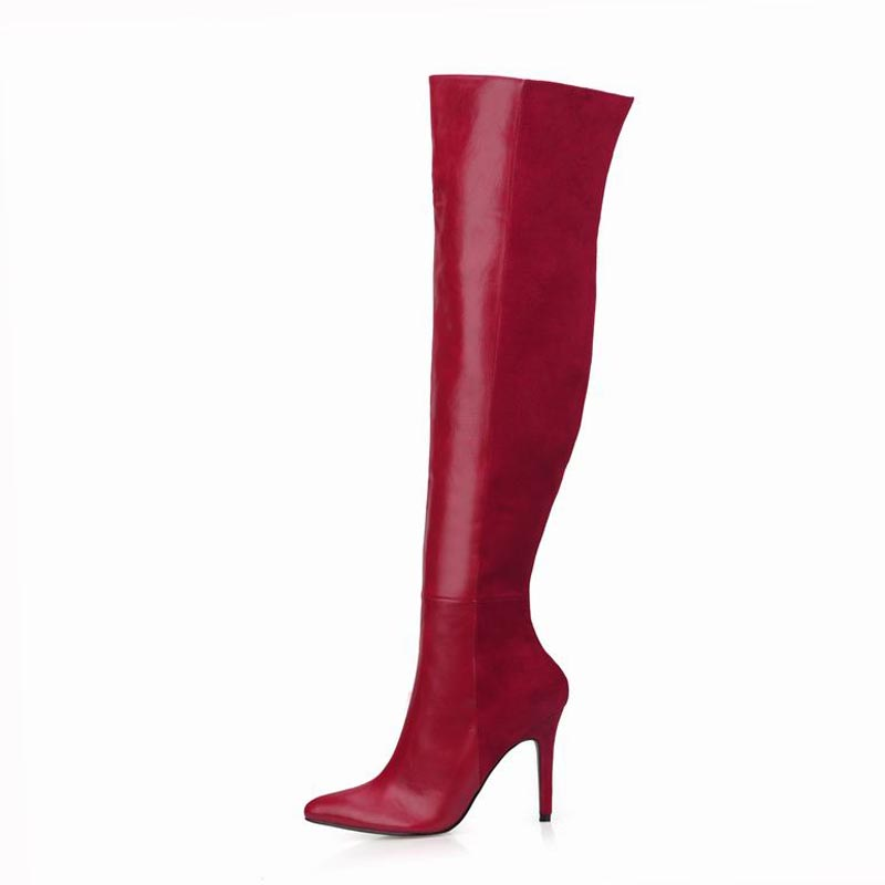 New Women Long Boots Shoes Woman Winter Snow Zapatillas Botas Zapatos Mujer Over Knee High Heels Zip For Club Party Ladies Shoes 2017 fashion winter platform boots knee high heels women shoes woman zapatillas botas zapatos mujer zip for ladies party shoes