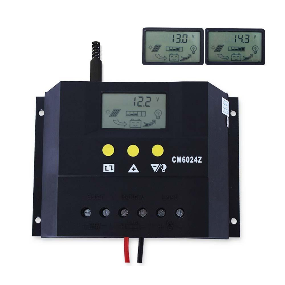 цена на PWM charge mode CM6024Z 60A 12-24V Solar Regulator Solar Charge Controller LCD Solar Genetator Voltage Control