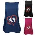 Лето одежда Для Беременных майка Любовь сердце след pattern Рукавов длинные топы беременность одежда уход топ vetement femme
