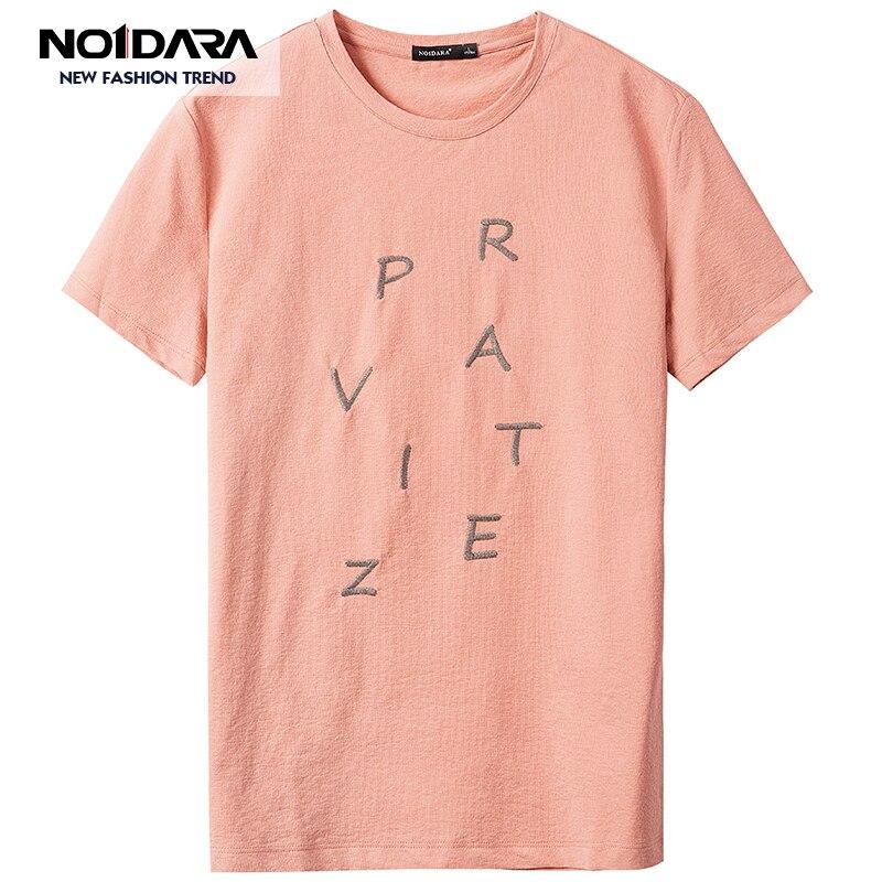 No 1 dara d'été tendance de lettre impression hommes à manches courtes T-shirt en coton stretch chemise tendance tee-shirt pull homme t shirt hommes