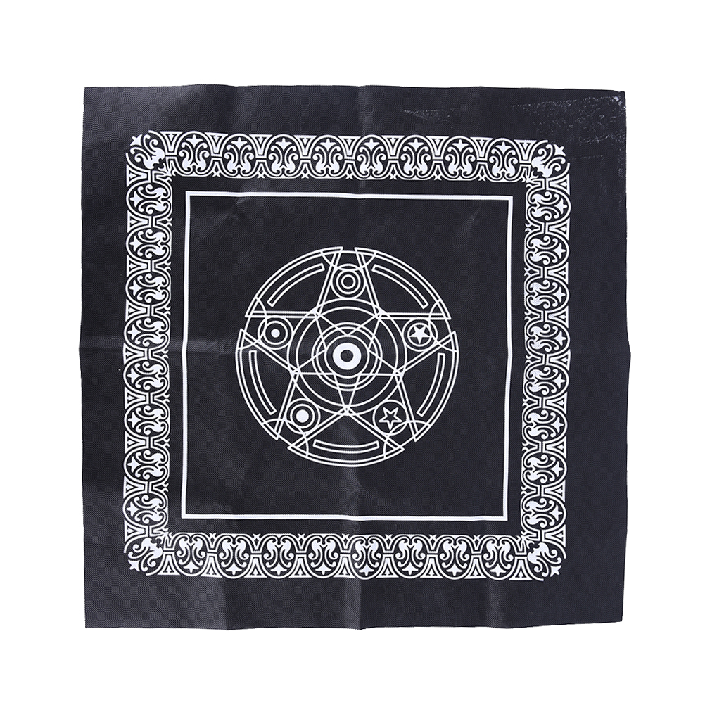 Pentacle Tarot Game Tarots Table Cover Playing Cards Tablecloth Non-woven Material Board Game Textiles 49*49 cm