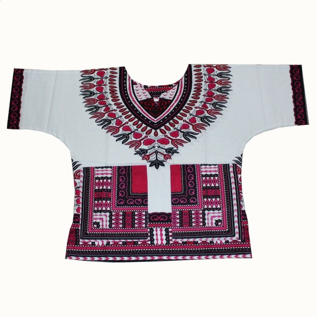 Wholesale Kids 2017 Child New Fashion Design Traditional African Clothing Print Dashiki T-shirt For Boys and Girls 5