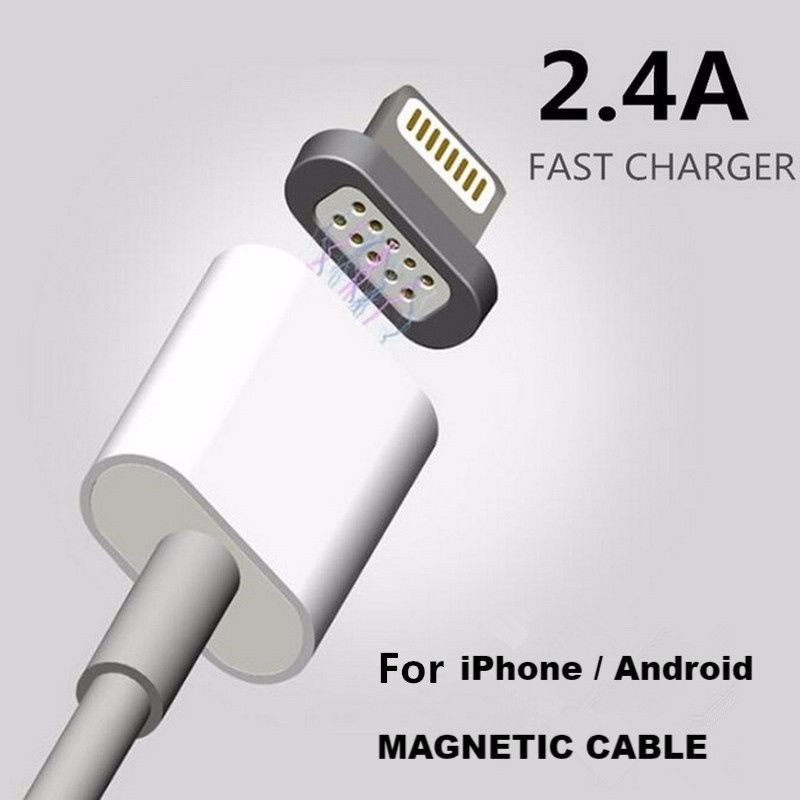 2.4A Magnetic Cable Micro Usb Data Cable for Apple iPhone 6 5...