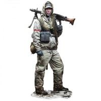 1/35 resin figure soldier model machine gunner soldier gk hand to do white model modern military war 114