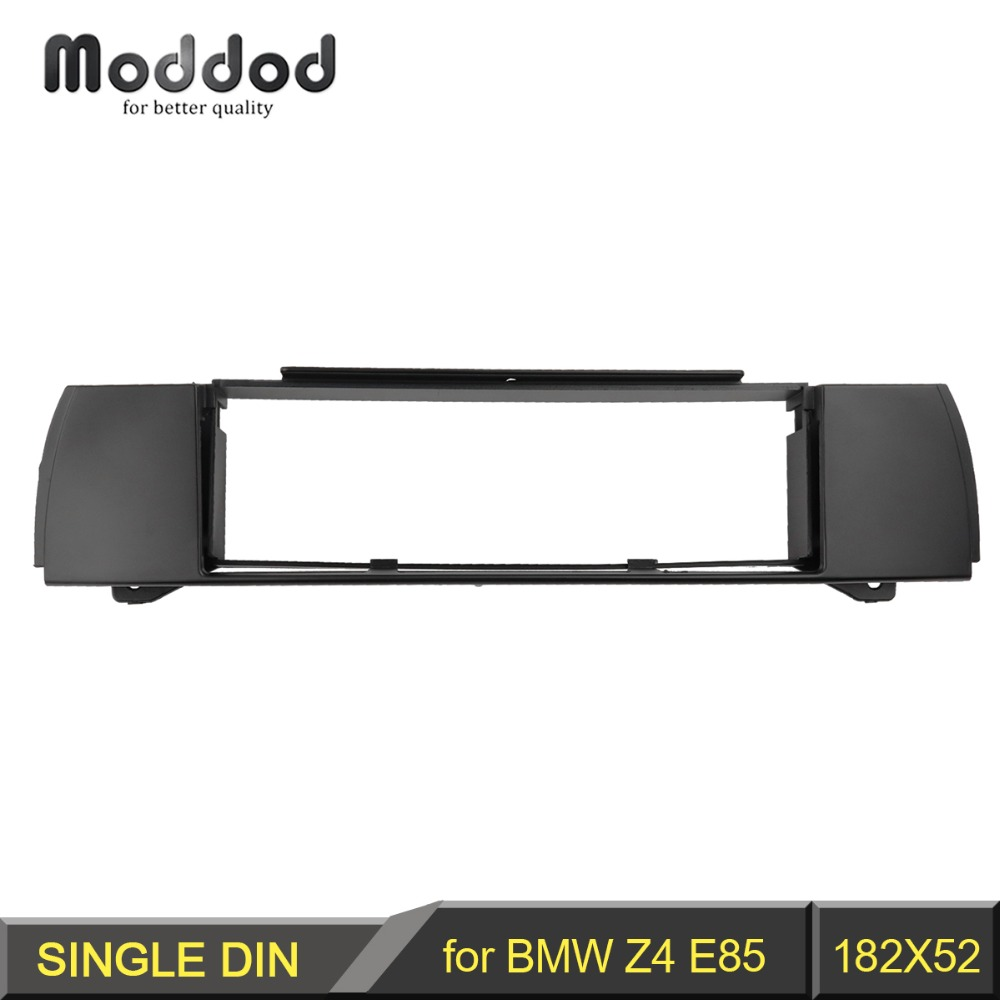 цена на One Din Fascia for BMW Z4 (E85) 2003-2009 Radio DVD Stereo Panel Dash Mounting Installation Trim Kit Face Frame