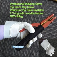 Reflect Radiant Heat Leather Welder Safety Leather TIG MIG Glove Cow Split Leather Aluminum Welding Gloves
