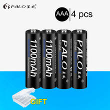 Hot 4Pcs NI-MH 1.2V 1100mAh AAA Rechargeable Batteries Environmental Protection Battery For toys clocks Remote Control