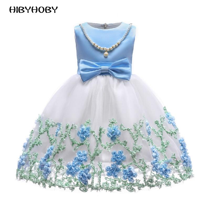 0dce04cc02a Hibyhoby κορίτσι Bow Bow φόρεμα Αμάνικο καλοκαίρι λουλούδι ...