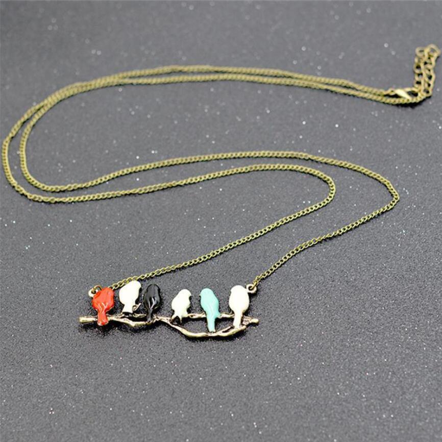 Colliers et pendentifs fantaisie Nouveau oiseau sur une