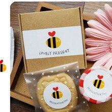 Прекрасный подарок мед украшение в виде пчелы конфет мешок пудинг бутылки декоративные наклейки подарки посылка украшения