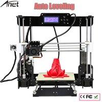 Новый обновленный A8 L 3d принтер автоматический датчик уровня большой размер печати 220*220*240 автоматическое выравнивание горячей кровати DIY