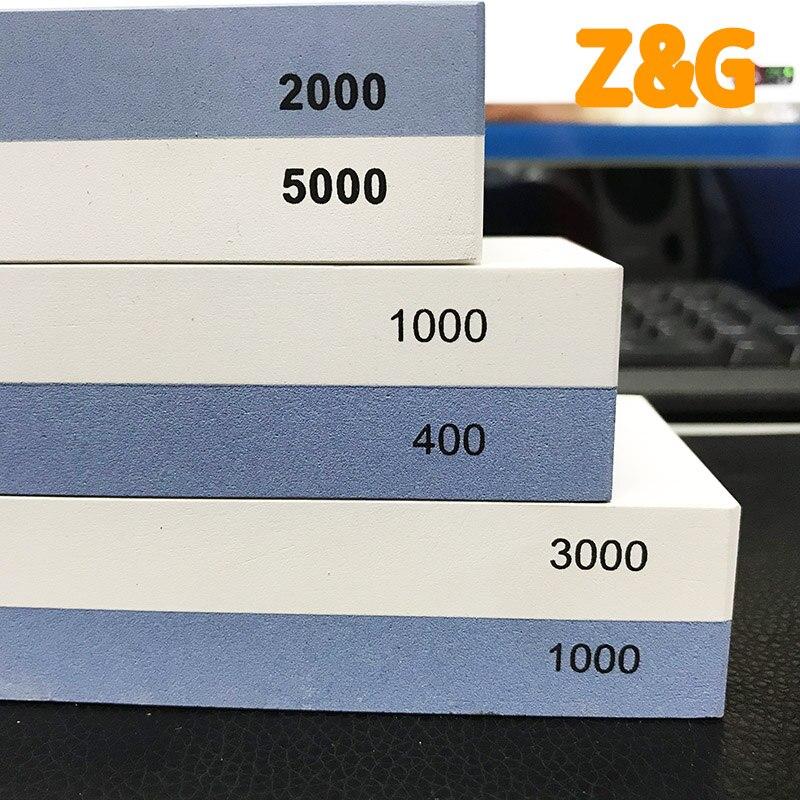 Image 2 - 전문 주방 나이프 숫돌 워터 스톤 샤프닝 나이프 화이트 커런덤 Whetstone400/1000 1000/3000 2000/5000-에서샤프너부터 홈 & 가든 의