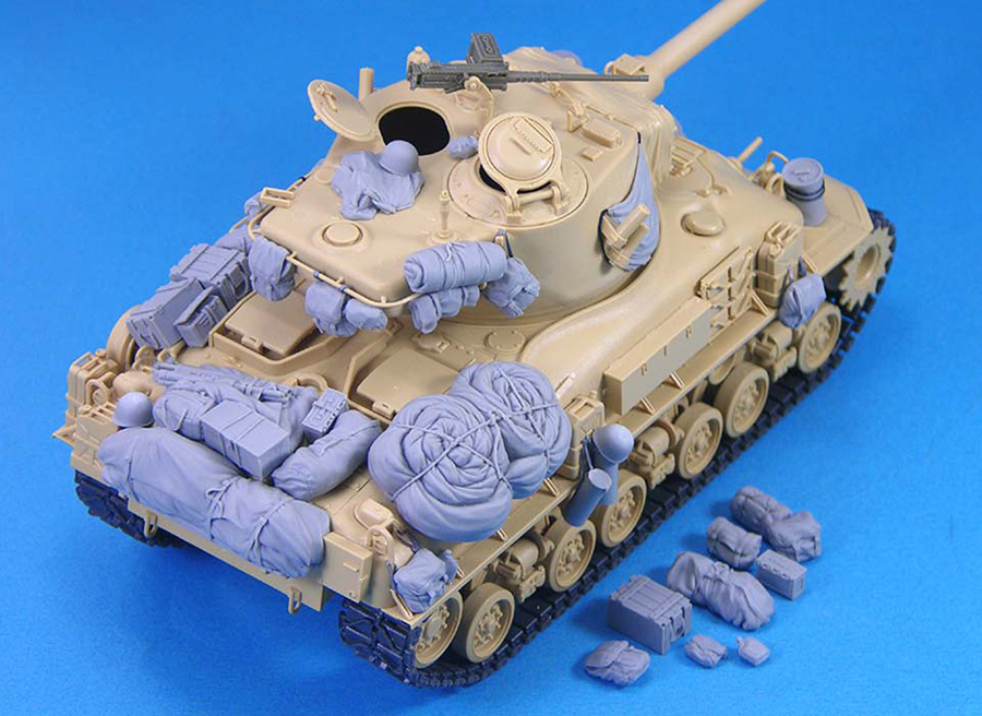 Assembly Unpainted  Scale 1/35 Israeli M51 Sherman Medium Tank Bag Not Have Tank Historical Toy Resin Model Miniature Kit