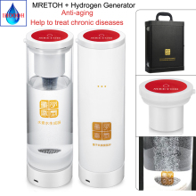 MRETOH Molecular Resonance 7.8Hz and Hydrogen generator Pure H2 Rich Water 500ML Electrolytic water bottle
