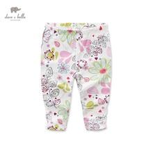 DB969-B dave bella printemps automne bébé imprimé pantalon babi pantalon bébé vêtements filles imprimé crayon pantalon enfants pantalon