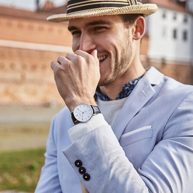 Bestdon montre hommes minimaliste étanche Quartz mouvement de luxe marque hommes montres décontracté classique montre-bracelet mâle nouveau 2