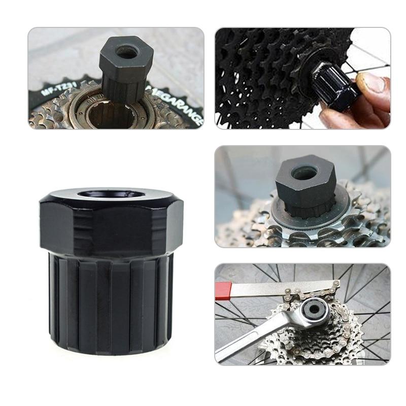 1 PCS Tool Bike Bicycle Cassette Flywheel Freewheel Lockring Remover Tool Black