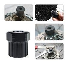 Bike Bicycle Cassette Flywheel Freewheel Lockring Remover Removal Repair Tool For Bike Bicycle Shimano Black