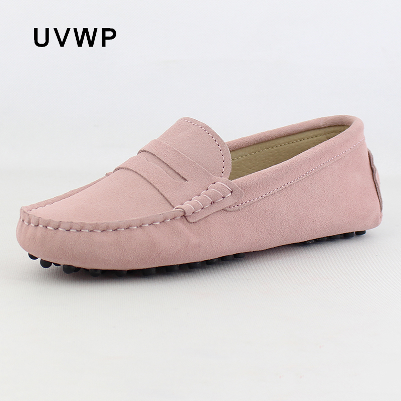Woman Shoes Flats Loafers Moccasins Driving Slip-On Genuine-Leather Women's Fashion Casual