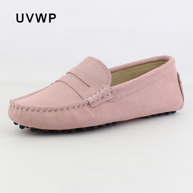 2020 Top Fashion Womens Flat Shoes Genuine Leather Woman Shoes Flats Casual Loafers Soft Slip On Moccasins Lady Driving Shoes