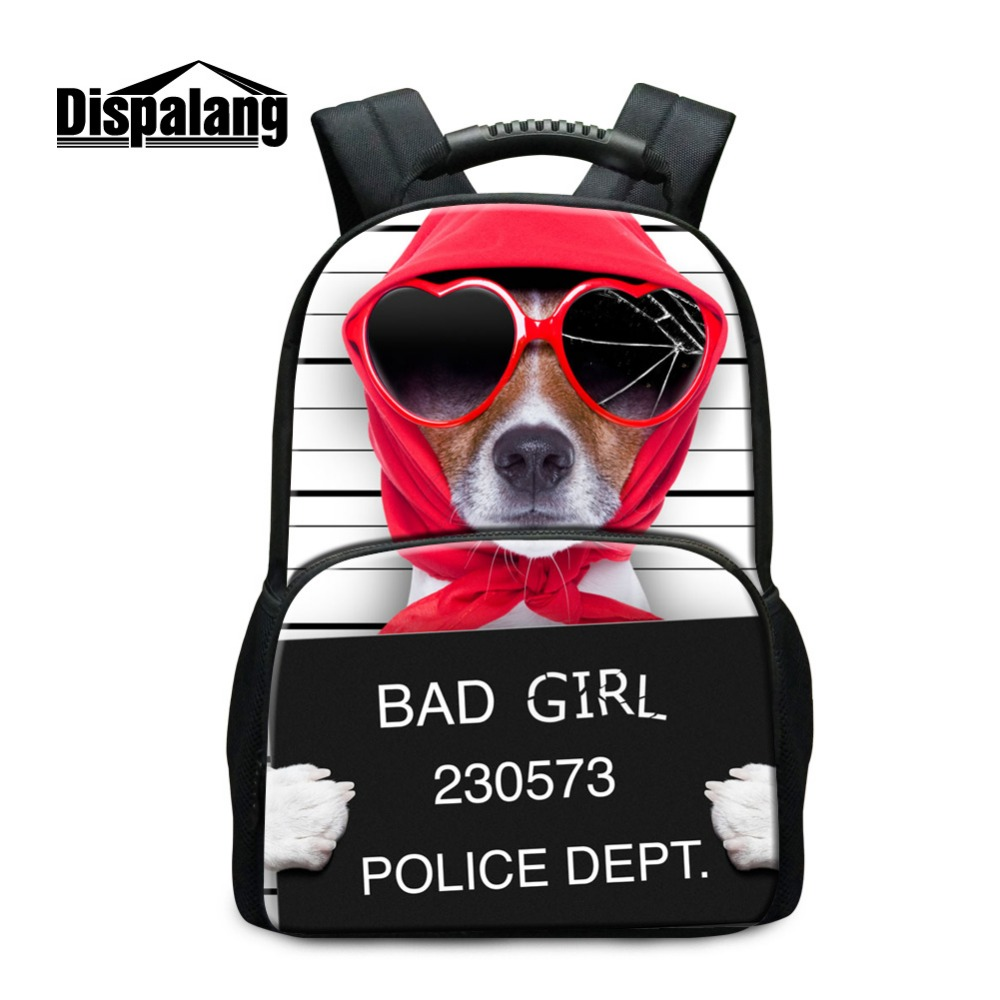ФОТО Dispalang Cute Dog 3D Printed Big Backpack for Middle School Students Fashion Lightweight Bookbags for College Animal Back Pack