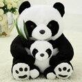 1 pcs 25 CM Sentado Mãe e Bebê Panda Panda de Pelúcia Brinquedos de Pelúcia Bonecas Macias Almofadas crianças brinquedos de Boa Qualidade frete Grátis
