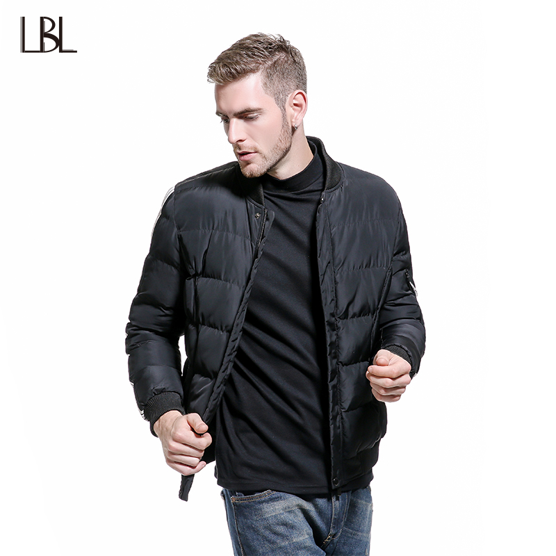 Europe Size Winter Warm Coat Mens Jacket Parkas Cotton Stand Collar Men Slim Fit Thick Wadded Jackets Coats Bomber Jacket Men