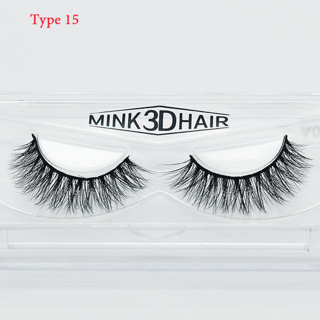 12 Pairs Handmade 3D Mink False Eyelashes Crossing lashes Natural soft cotton stalk style Makeup Cosmetic Tools 8 types optional