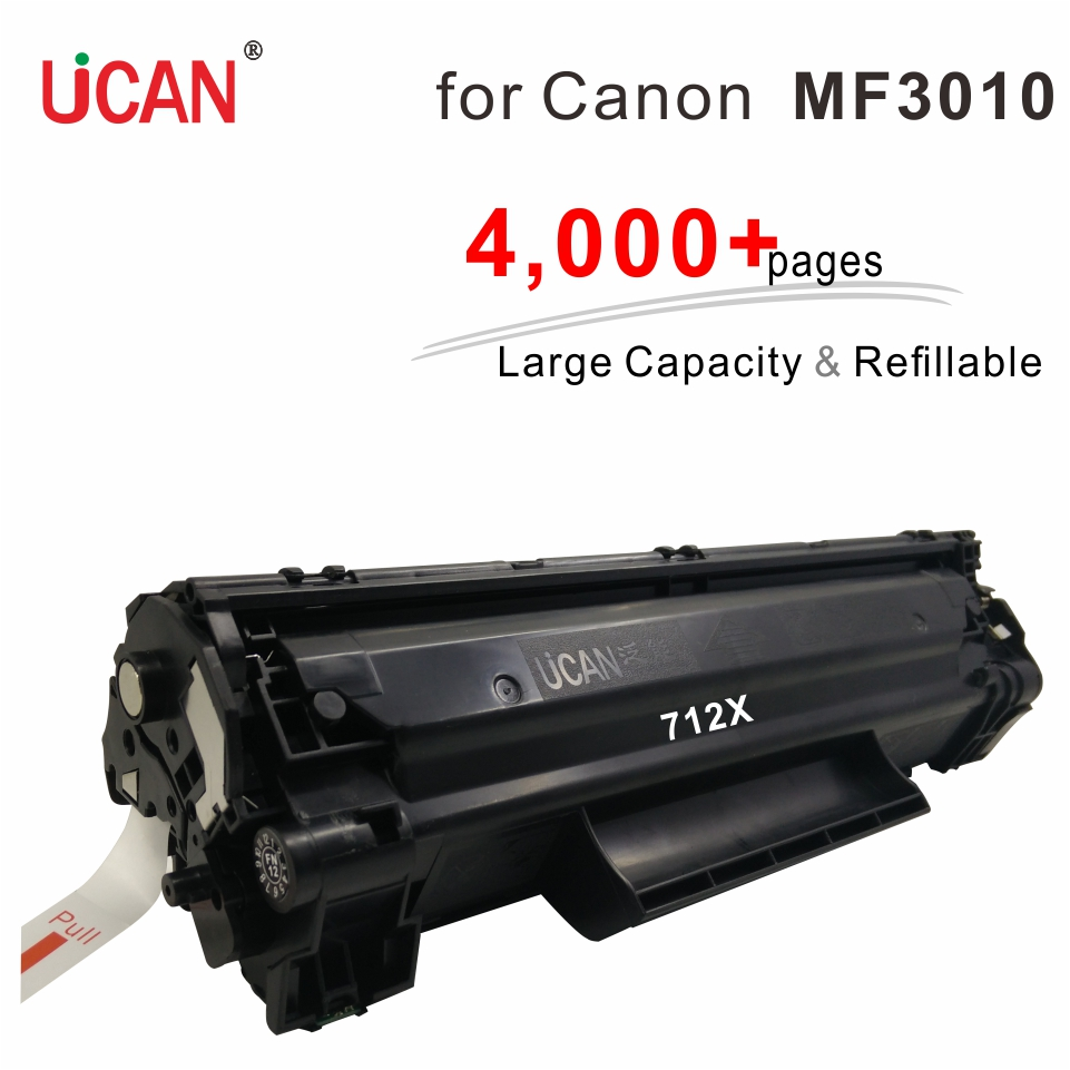 for Canon LBP3010 LBP 3010 3018 3030 3050 MF3010 printer Cartridge 712 312 UCAN 4,000+ pages Large Print Volumey & Refillable for canon d570 printer cartridge 737 337 137 ucan 737ar kit 12 000 pages