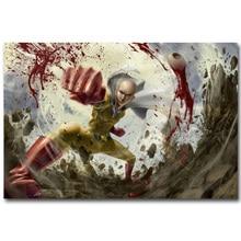 One Punch Man Art Silk Fabric Poster Print 13×20 24×36 inch