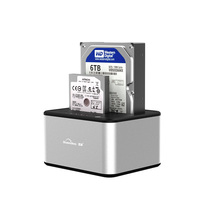 5GBP USB 3.0 Aluminum up to 6TB Dual bay 2.5 3.5 docking station external case Duplicator Factory Provide HDD station hard drive